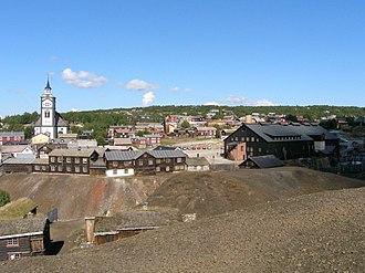 Røros - Image: Roros View From Slag Heaps
