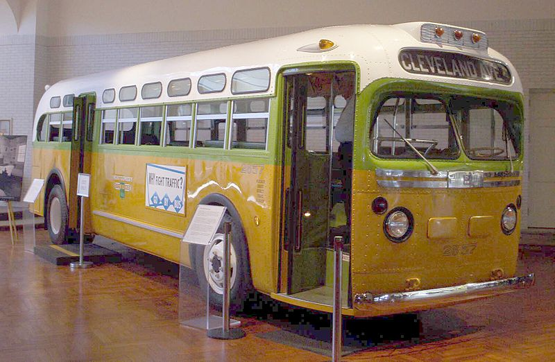 Traveling the civil rights trail - Rosa Parks Bus
