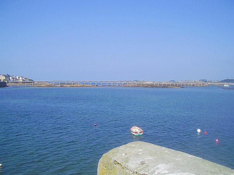 Fichier:Roscoff, Pont vers vedette île de Batz 29 août 2007.JPG
