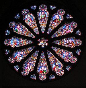 William Wailes - Rose window from St Matthias Church, Richmond, a church designed by Sir Gilbert Scott
