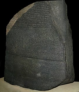 Rosetta Stone Ancient Egyptian stele with inscriptions in three languages