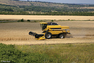 Agriculture in Russia - A combine in the Rostov Oblast.