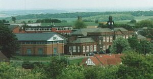 Rotherham College of Arts and Technology - View of Rother Valley Campus from the pit tip, 2004