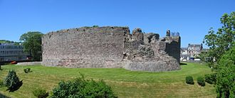Islands of the Clyde - The 13th century curtain wall of Rothesay Castle, Bute