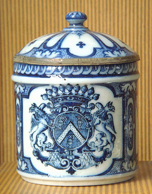 French porcelain - Rouen soft-paste porcelain, the first French porcelain, end of the 17th century.