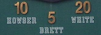 George Brett - Brett's number 5 was retired by the Royals alongside Dick Howser and Frank White.