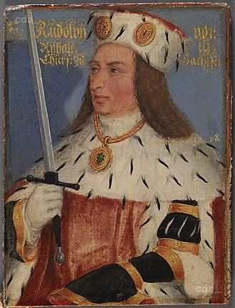 Rudolf III, Duke of Saxe-Wittenberg - Image: Rudolf III Kurfürst von Sachsen (AT KHM GG4790)