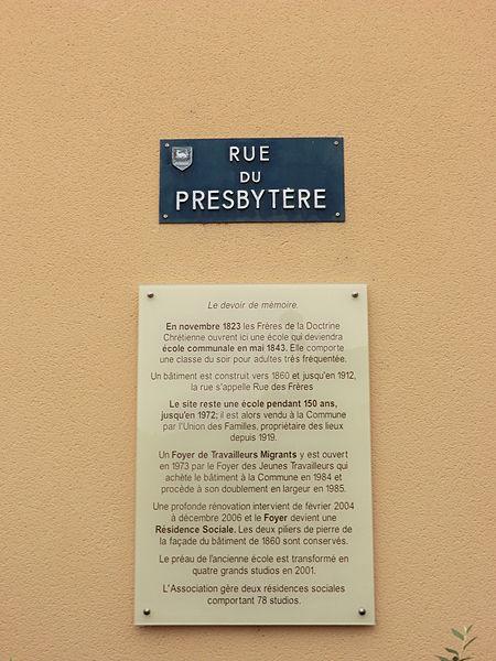 Rue du presbytère (Belleville).