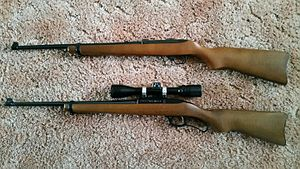 Ruger Model 96 - Ruger 96/17 (bottom) compared to Ruger 10/22 22WMR (top)