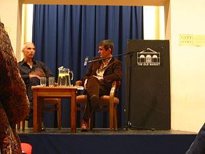 Andrew Miller (novelist) - Andrew Miller (right)