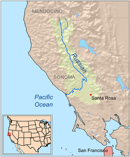 Russian River California Wikipedia - Show me the map of california