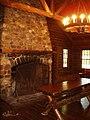 Rutgers Gardens - log cabin.JPG