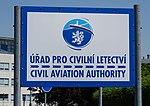 Ruzyně, Úřad pro civilní letectví, tabule.jpg