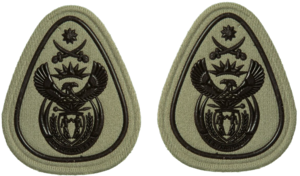 Sergeant Major of the Army (South Africa) - Image: SANDF Rank Insignia WO1 Level 2 embossed badge