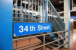 34th Street station (Market–Frankford Line) - Image: SEPTA34th Street Station Platform Sign 2007
