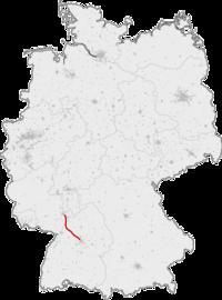 Strecke der Schnellfahrstrecke Mannheim–Stuttgart