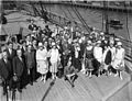 SLNSW 10322 Sir Benjamin Fuller with the Gonsalez Opera Company arriving by ship for the Fullers Circuit.jpg