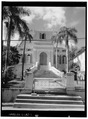 SOUTH FRONT - Frederiks Lutheran Church, Norregade, Charlotte Amalie, St. Thomas, VI HABS VI,3-CHAM,11-1.tif
