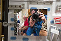 STS-134 Roberto Vittori and Mark Kelly on the middeck of space shuttle Endeavour.jpg