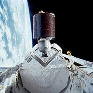 STS-51-I AUSSAT 1 deployment