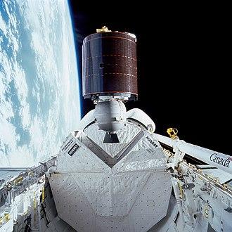 STS-51-I - Image: STS 51 I AUSSAT 1 deployment