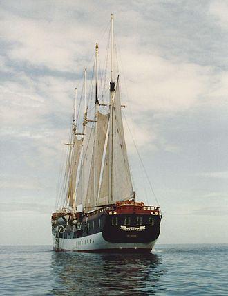 Fantome (schooner) - Fantome in 1993