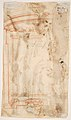 Saint Andrew, Apostle, with Transverse Cross, Book, and Fish, verso- Architectural sketch in red chalk MET DP811534.jpg