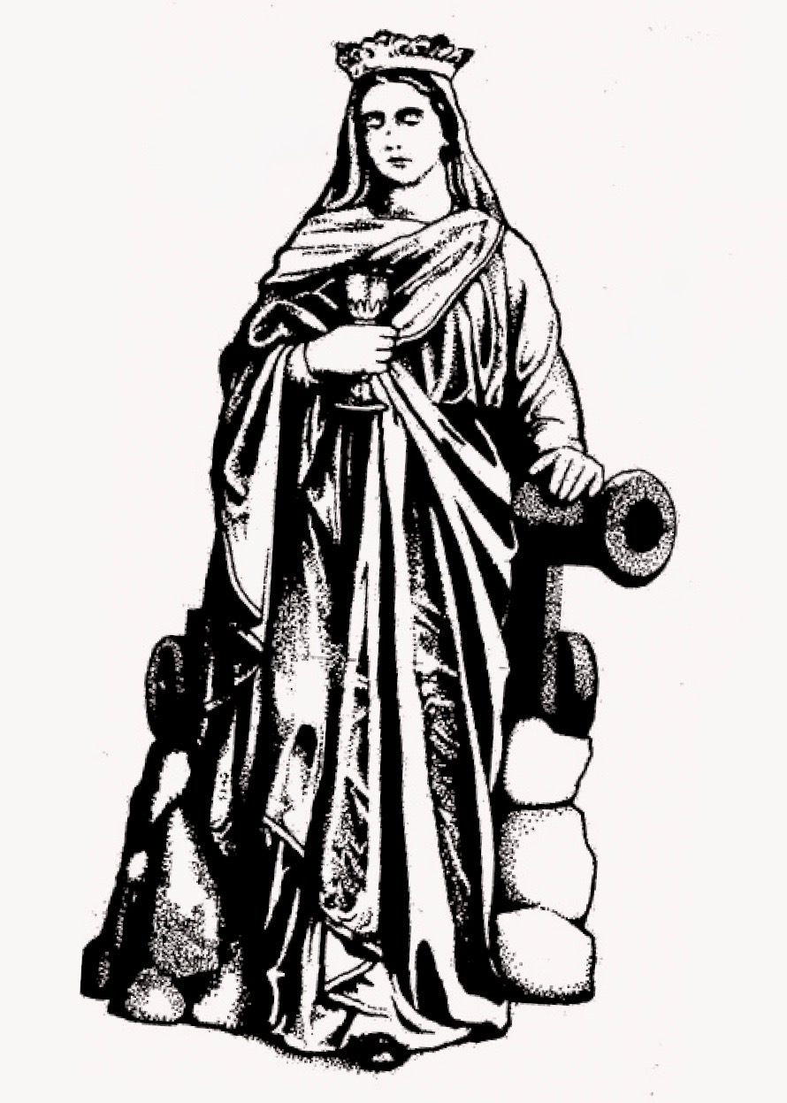 Saint Barbara with cannon