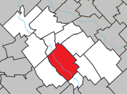 Location within La Nouvelle-Beauce RCM.