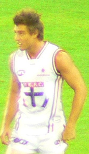 Sam Fisher (footballer) - Fisher playing for St Kilda during the 2007 AFL Season