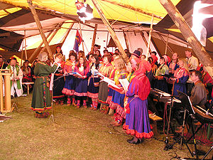 Sami people - A Sami choir in concert in 2003