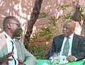 Samuel Oghale Oboh with 1998 - 2008 Botswana President Festus Mogae.jpg