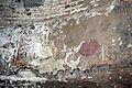 San crisogono, resti della basilica paleocristiana del V secolo, affreschi a losanghe e clipei dell'VIII secolo 03.jpg