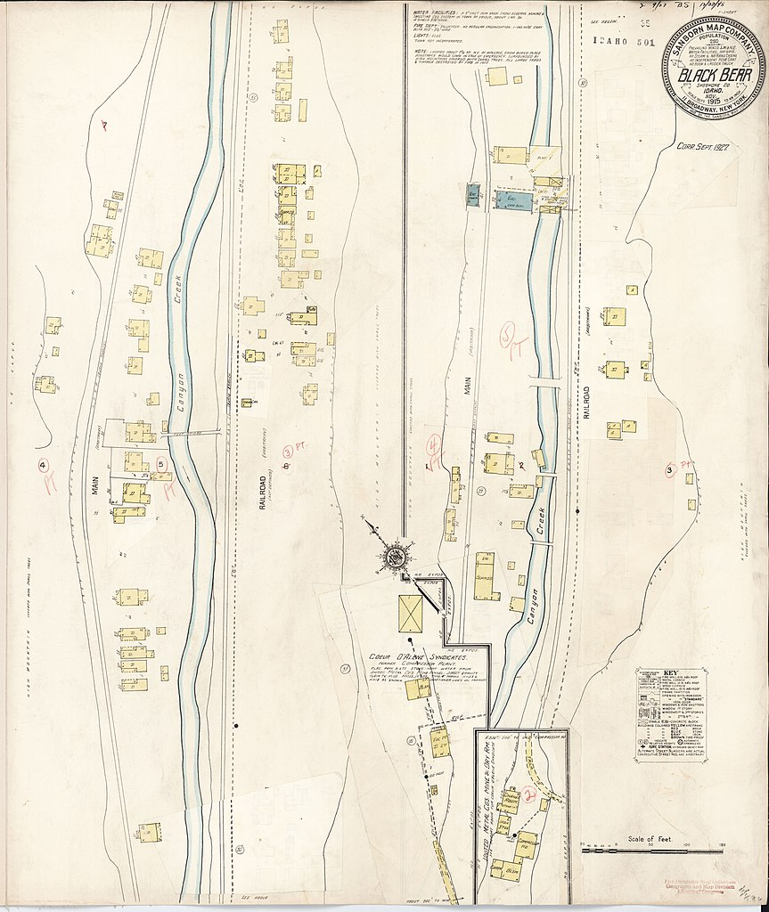 Shoshone Idaho Map.File Sanborn Fire Insurance Map From Black Bear Shoshone County