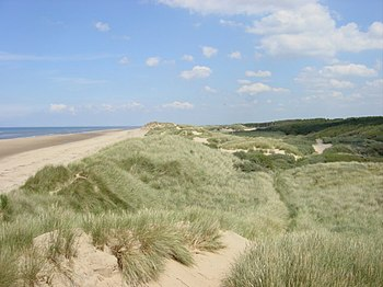 English: Sand Dunes and Beach, Freshfield. San...