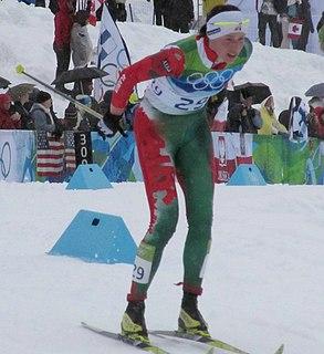 Alena Sannikova Belarusian cross-country skier