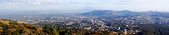 San Salvador (volcano) - View of San Salvador City from San Salvador volcano's highest point