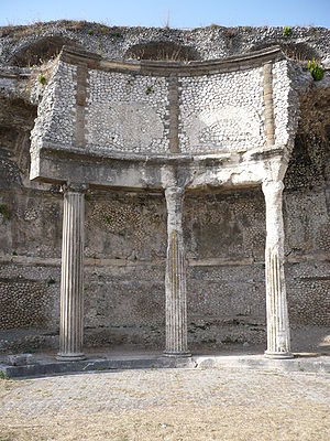 Palestrina - Remains of the Sanctuary of Fortuna Primigenia.