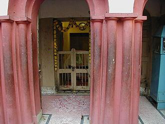 Sarada Devi - Sarada Devi's tiny room on the ground floor of the nahabat, now a shrine