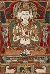 Sarvavid Vairochana, From a Set of the Five Jina Buddhas, based on Complete Purification of All Evil Rebirths (Sarva Durgati Parishodana Tantra) (cropped).jpg