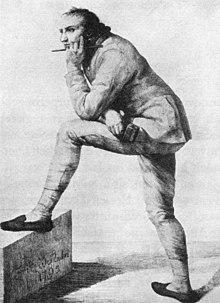 Gottfried Schadow in einer Arbeitspause 1795 (Quelle: Wikimedia)