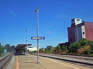 Schenectady station - Image: Schenectady, NY, train station