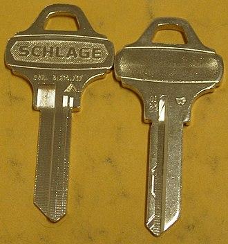 Schlage - Schlage Everest C123, patented key blanks