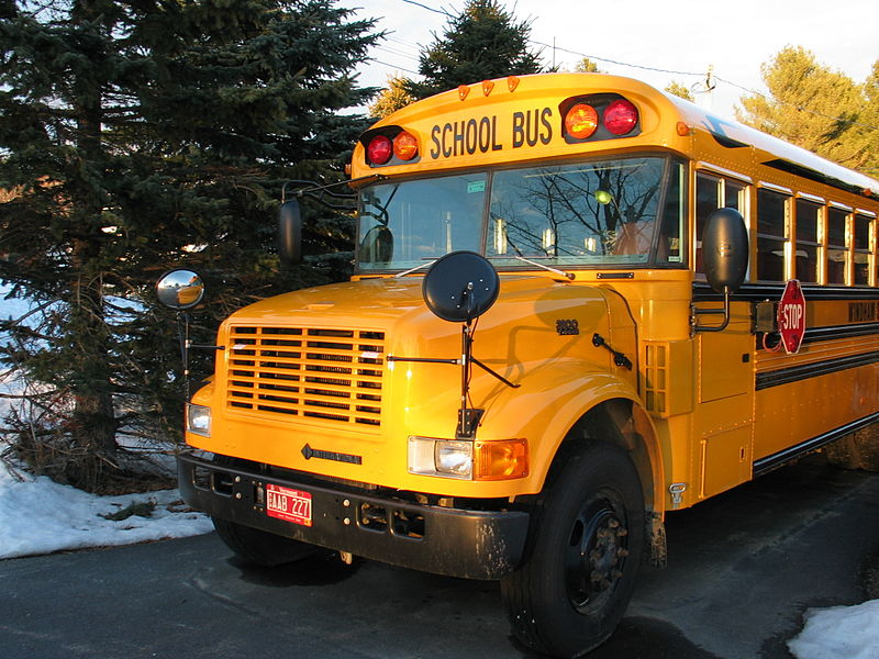 File:School bus zoom in front.jpg