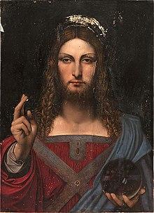 School of Leonardo da Vinci, Salvator Mundi, Museo Diocesano, Napoli.jpg