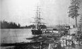 Schooner D.L. Clinch, in New Westminster, BC, in 1859.png