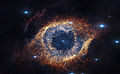 Screenshot from IMAX® 3D movie Hidden Universe showing the Helix Nebula in infrared.jpg