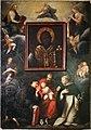 Scuola fiorentina, cornice a un'icona di san nicola di bari con i ss. francesco, agostino e domenico, xviii secolo.jpg