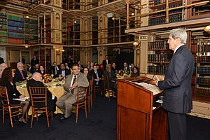 Riggs Library - Image: Secretary Kerry Delivers Remarks at the Georgetown University Interfaith Luncheon (12194988573)
