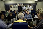 Secretary of Defense Chuck Hagel briefs the press en route to Singapore (3).jpg